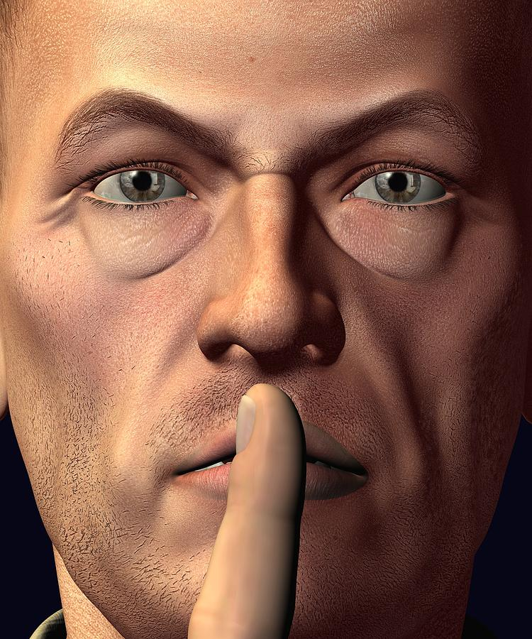 3d Digital Art - Sshh Vladimir by Teo Spiller