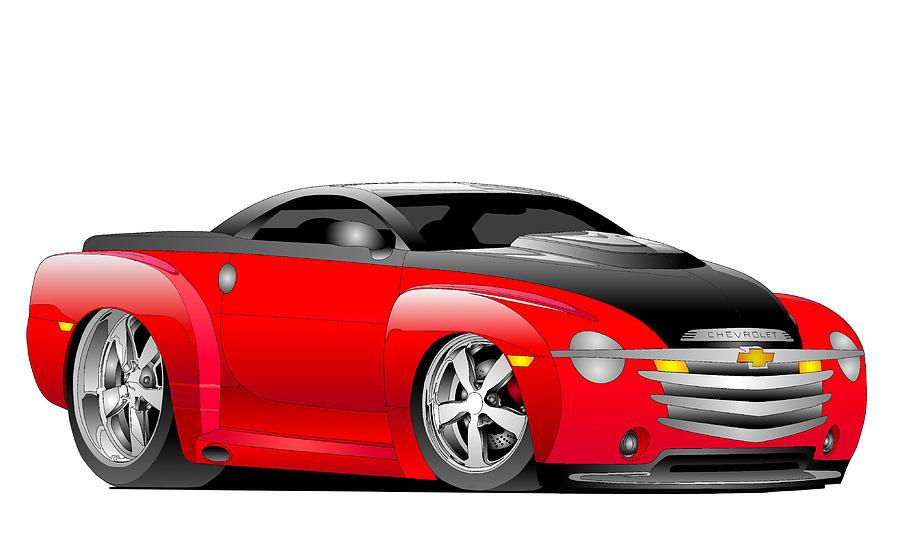 Chevrolet Digital Art - Ssr Toon by Lyle Brown