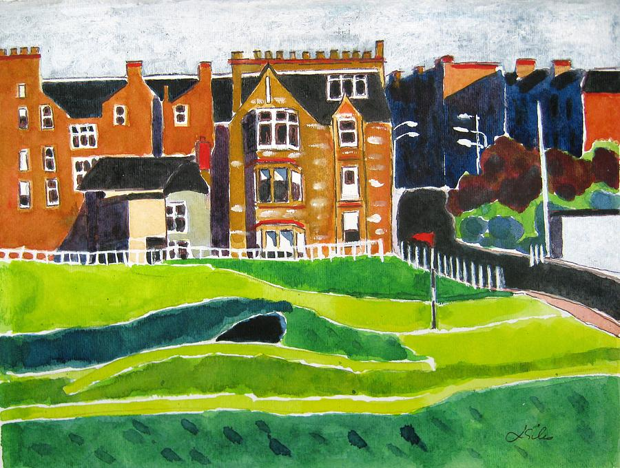 St Andrews Painting - St Andrews 17 by Lesley Giles