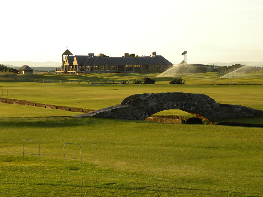 Scotland Photograph - St Andrews Links golf course by Peggy  McDonald