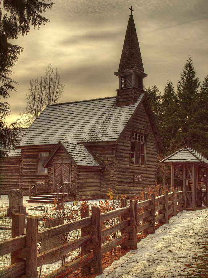 Church Photograph - St Annes Church In Winter by Randy Hall