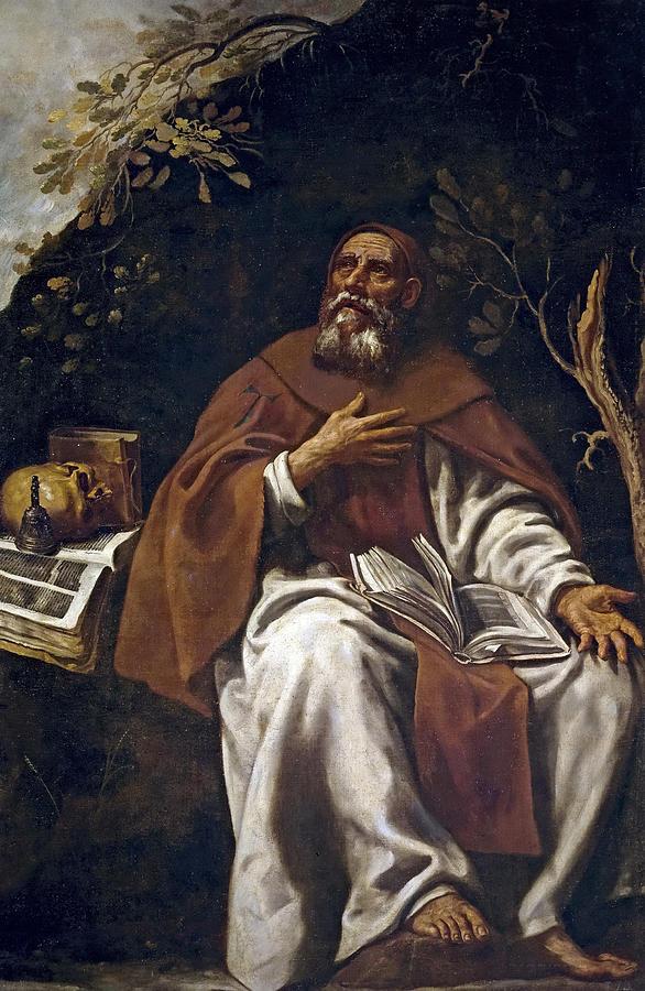 Luis Tristan De Escamilla Painting - St Anthony Abbot by Luis Tristan de Escamilla