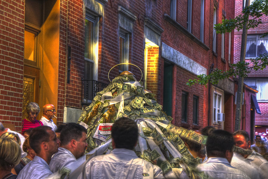 North End Photograph - St Anthonys Feast - Boston North End by Joann Vitali