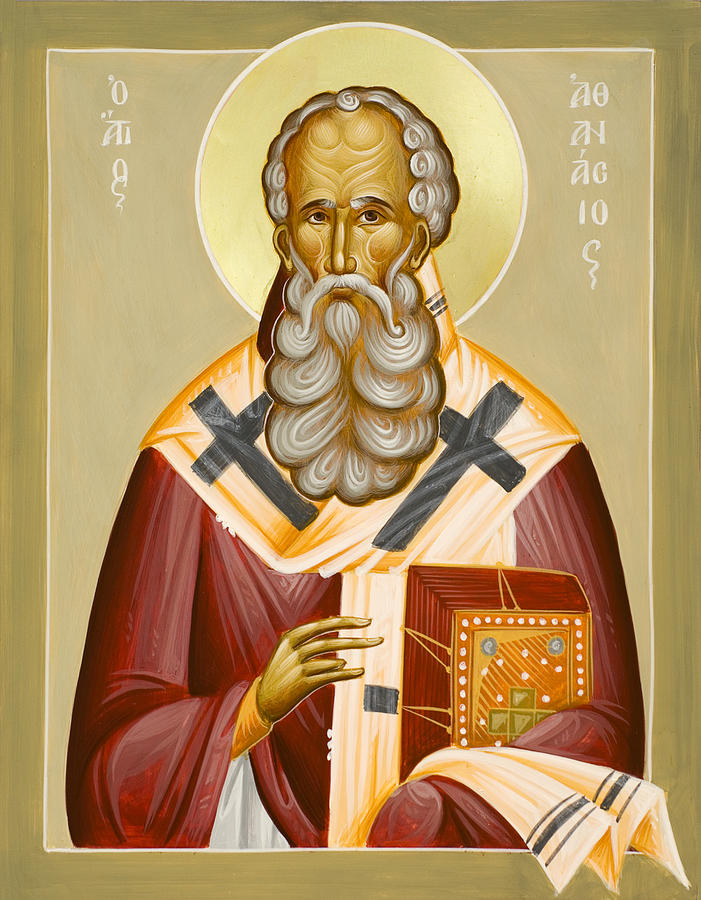 St Athanasios The Great Painting - St Athanasios The Great by Julia Bridget Hayes