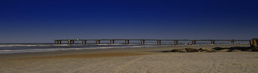 St Augustine Mixed Media - St Augustine Beach Pier by Donnell Carr