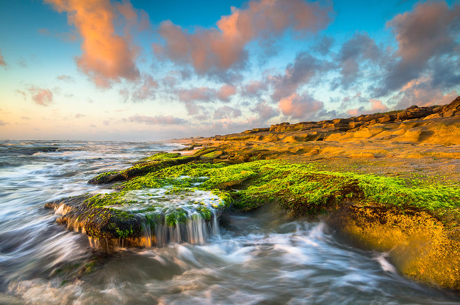 St Augustine Photograph - St. Augustine Fl Beach Sunrise - The Coquina Coast by Dave Allen
