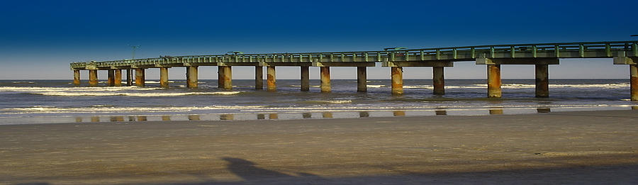 St Augustine Mixed Media - St. Augustine Pier by Donnell Carr