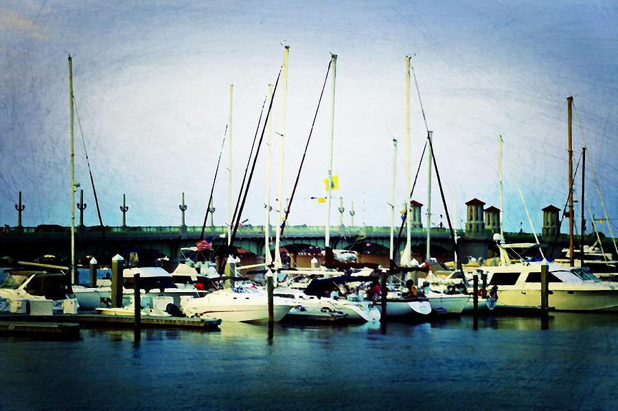 Marina Photograph - St. Augustine Sailboats by Laurie Perry