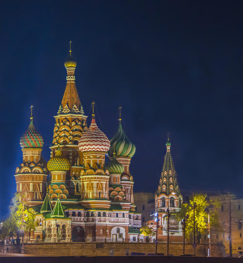 St. Basil's Cathedral at Night by Kenneth Blye