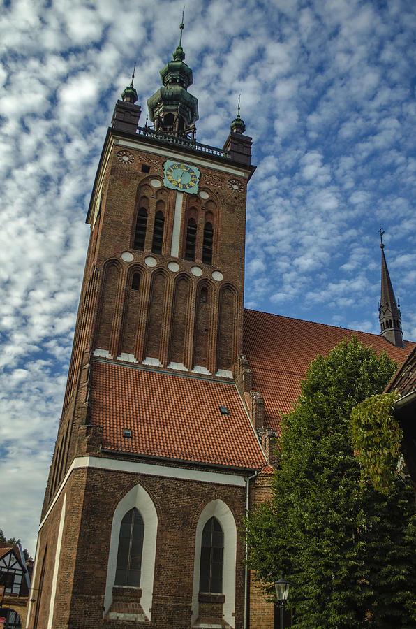 Gdansk Photograph - St. Catherines Church In Gdansk by Adam Budziarek