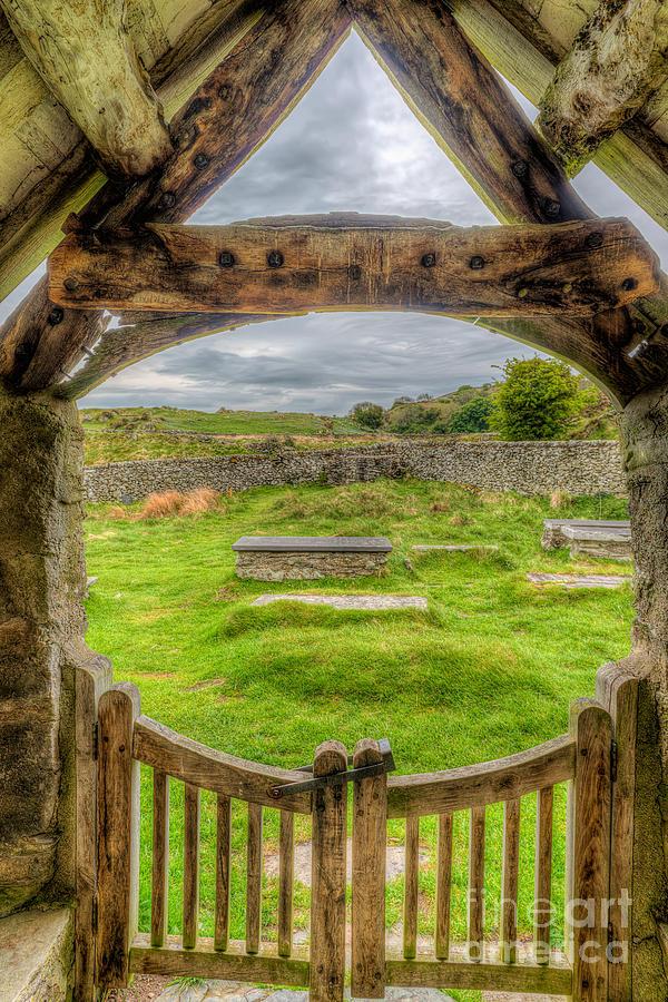 British Photograph - St Celynnin Graveyard by Adrian Evans
