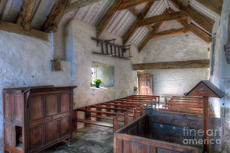 Architecture Photograph - St Celynnin Interior by Adrian Evans