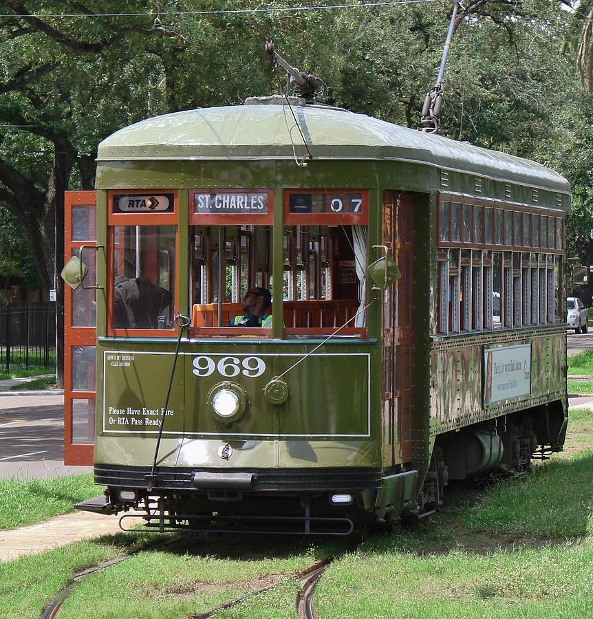 Streetcar Photograph - St Charles Line by Margaret Bobb