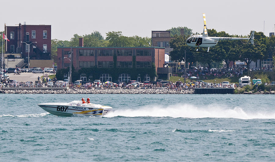 St. Clair Photograph - St. Clair Michigan Usa Power Boat Races-4 by Paul Cannon