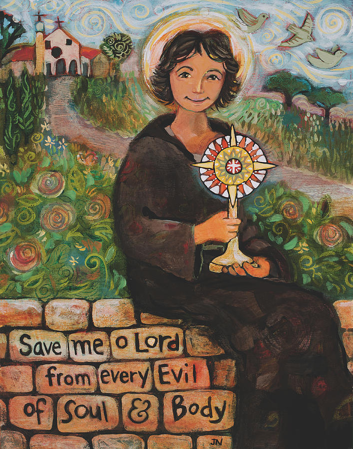 St. Clare Painting - St. Clare Of Assisi by Jen Norton