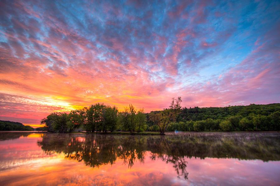 St. Croix River Photograph - St. Croix River at Dawn by Adam Mateo Fierro