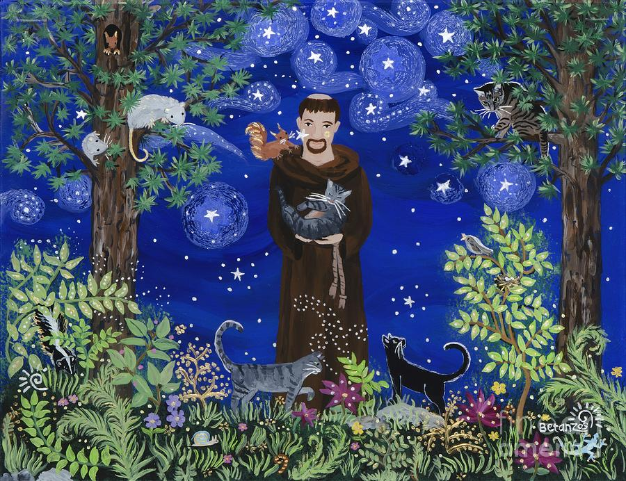St. Francis Of Assisi Painting - St. Francis And Spike by Sue Betanzos