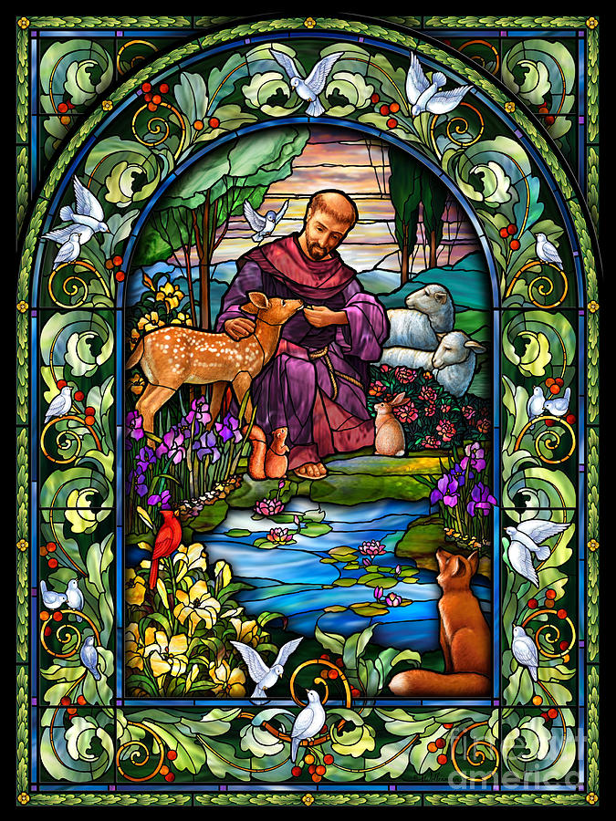 St. Francis Digital Art - St. Francis of Assisi by Randy Wollenmann