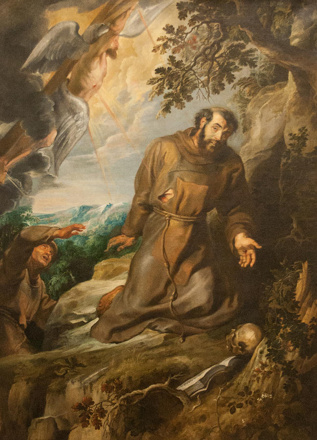 St Painting - St. Francis Of Assisi Receiving The Stigmata by Peter Paul Rubens