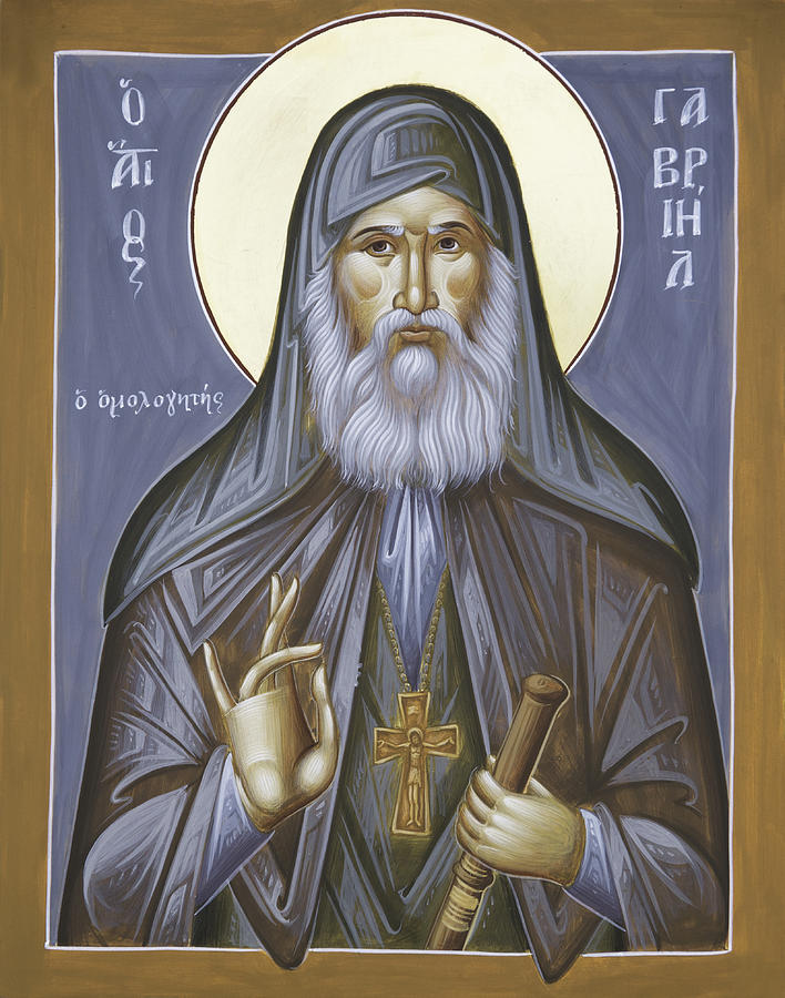 St Gabriel Of Georgia Icon Painting - St Gabriel The Confessor Of Georgia by Julia Bridget Hayes