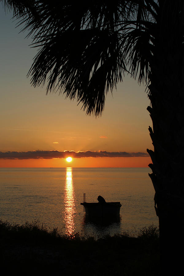 Sunset Photograph - St. George Island Sunset by Lynn Jordan
