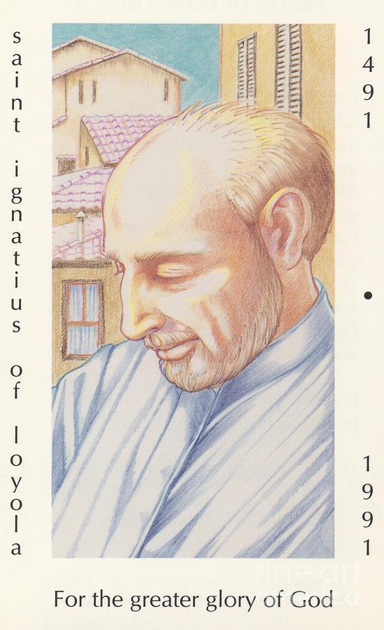 St. Ignatius Painting - St. Ignatius At Prayer In Rome by William Hart McNichols