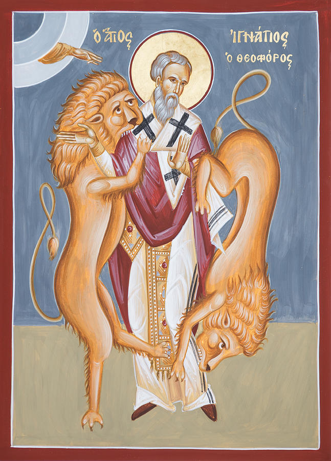 St Ignatius Of Antioch Icon Painting - St Ignatius Of Antioch by Julia Bridget Hayes