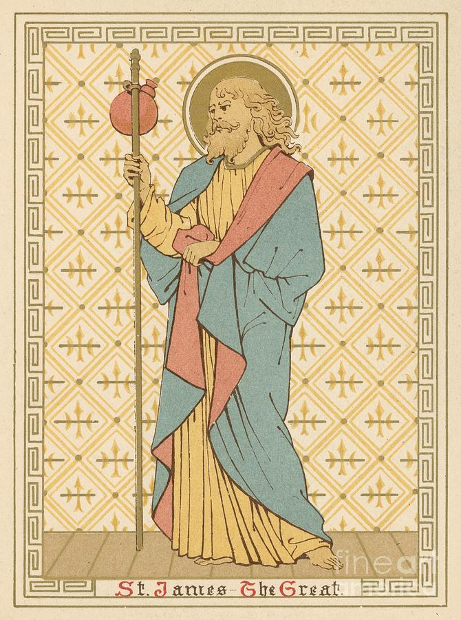 Saint Painting - St James The Great by English School