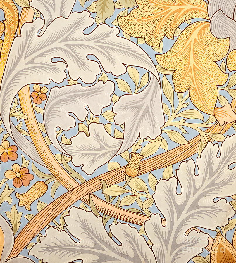 St James Painting - St James Wallpaper Design by William Morris