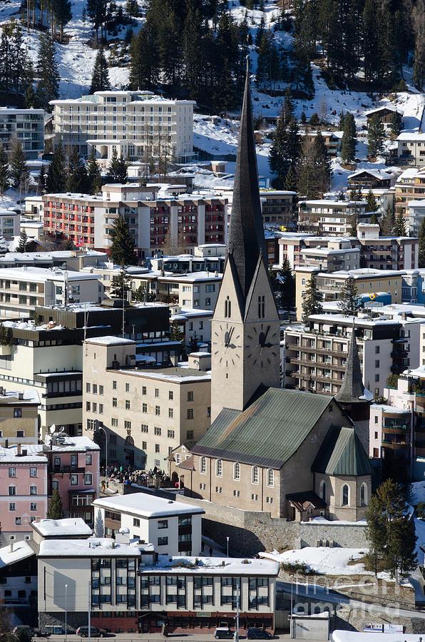 St Johann Photograph - St Johann Davos Church St John Town by Andy Smy