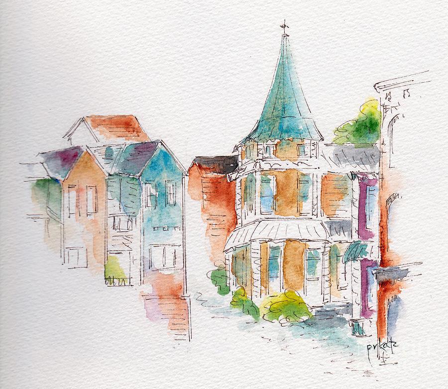 Impressionism Painting - St John Harbor Hill by Pat Katz