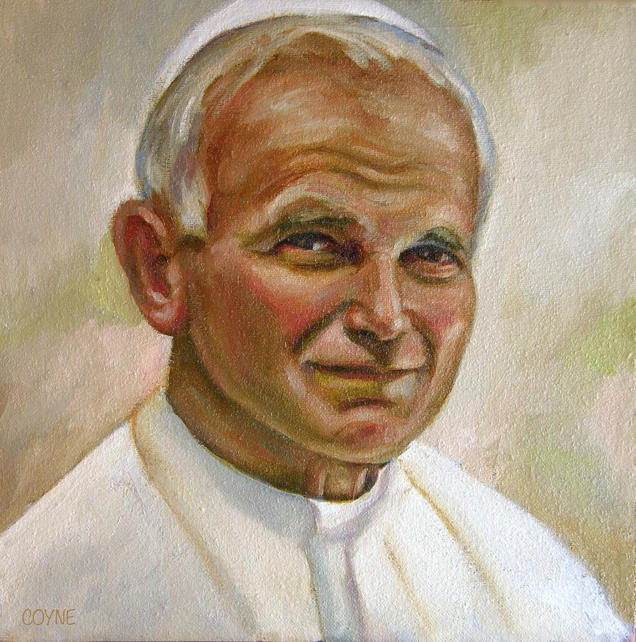 St. John Paul II Painting by Brian Coyne
