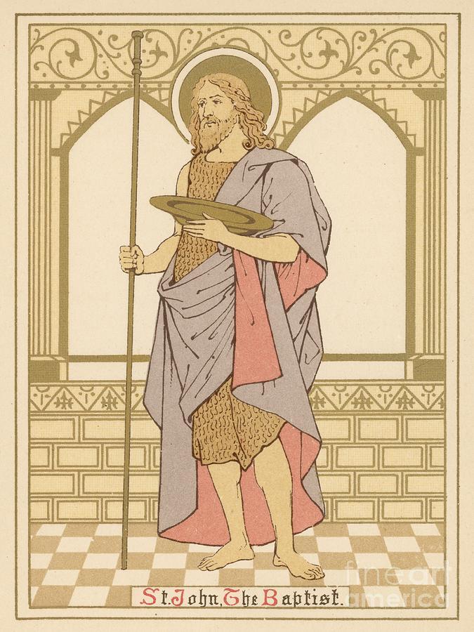 Saint Painting - St John The Baptist by English School