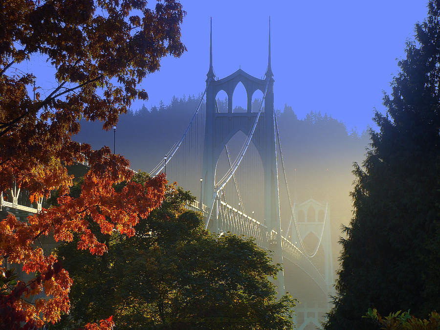 St. Johns Bridge Photograph by DerekTXFactor Creative