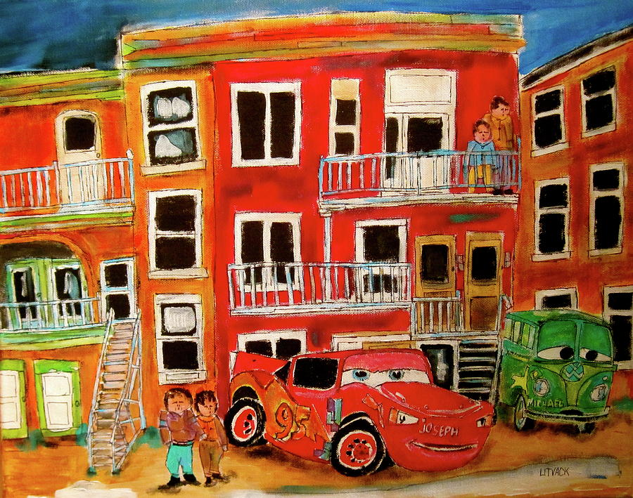 Cars Painting - St. Joseph And Friends by Michael Litvack