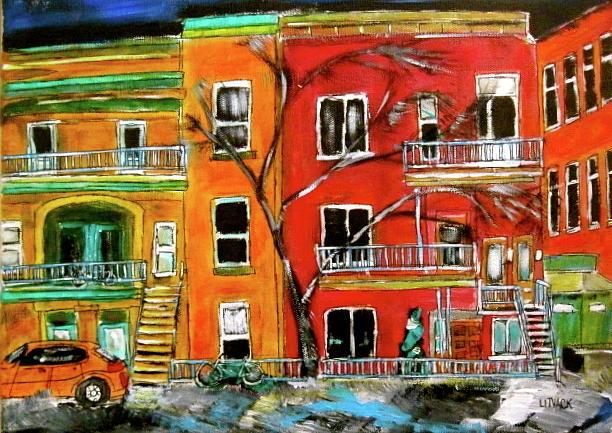 Montreal Painting - St. Joseph Boulevard by Michael Litvack