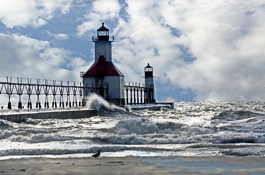 Lighthouse Photograph - St Joseph Lighthouse by Cheryl Cencich