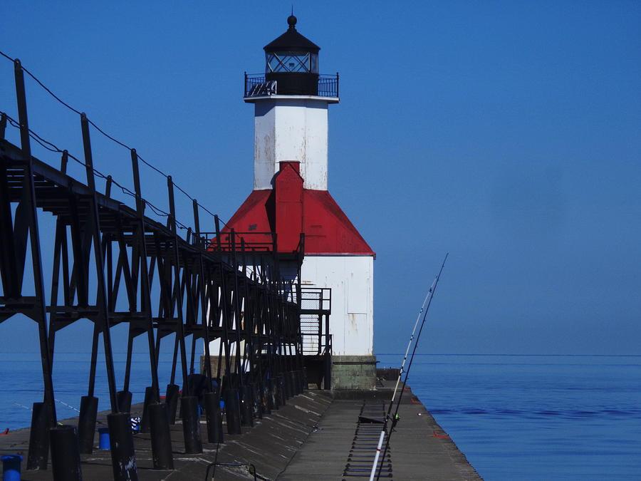 Light House Photograph - St Joseph North Point Lighthouse by Rose Clark