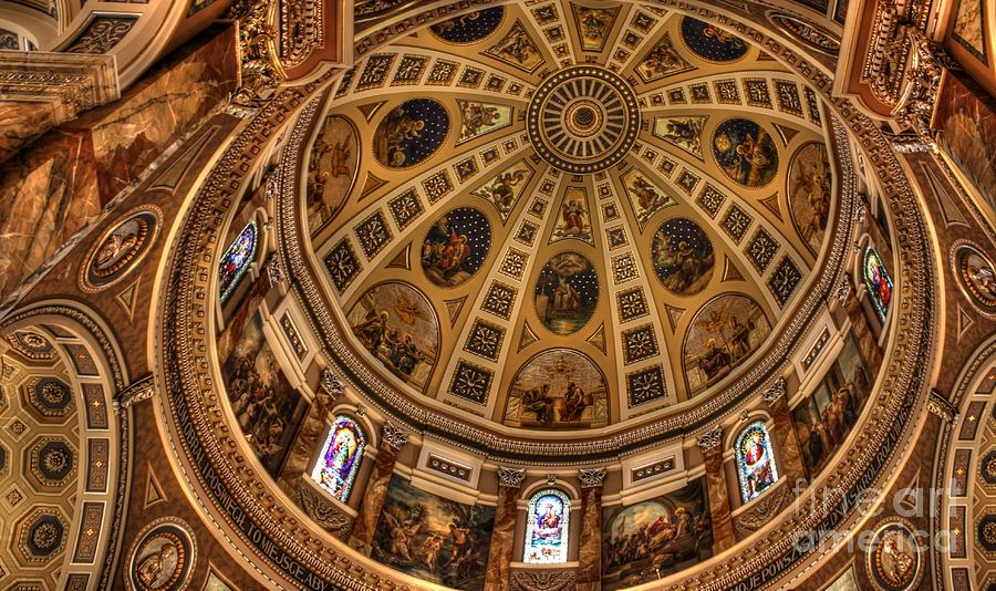 Hdr Photograph - St. Josephat Dome by David Bearden