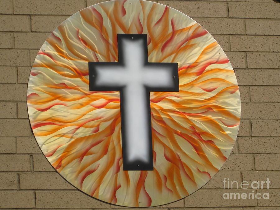 Christian Sculpture - St. Josephs Cross by Rick Roth