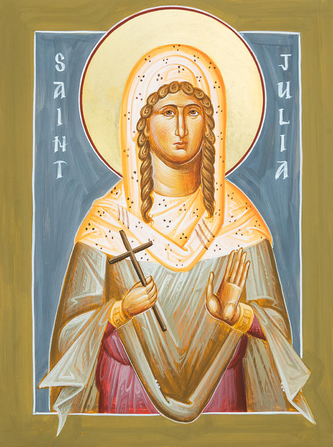Icon Painting - St Julia Of Carthage by Julia Bridget Hayes