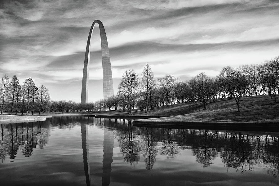 Arch Photograph - St Louis Arch by Errick Cameron