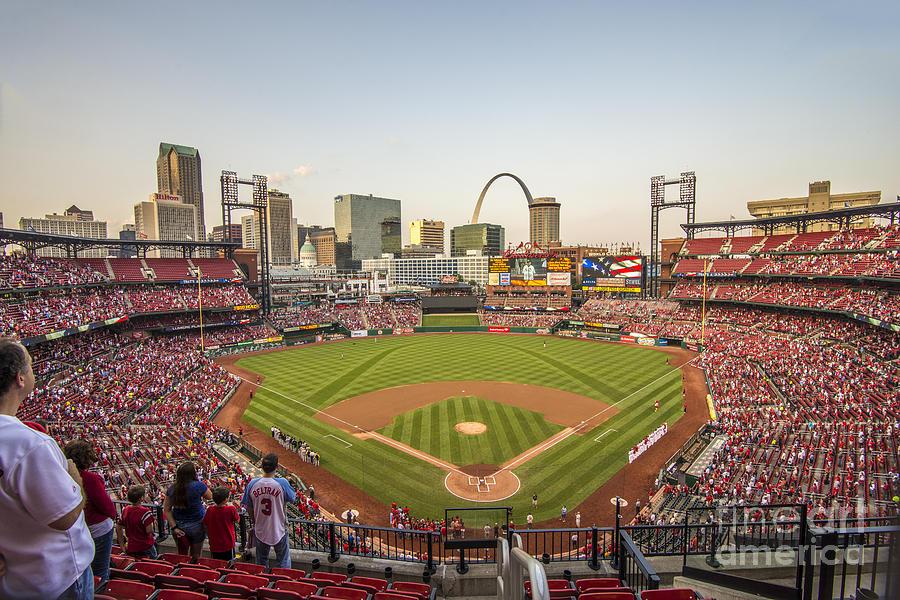 St. Louis Photograph - St. Louis Cardinals National Anthem by David Haskett