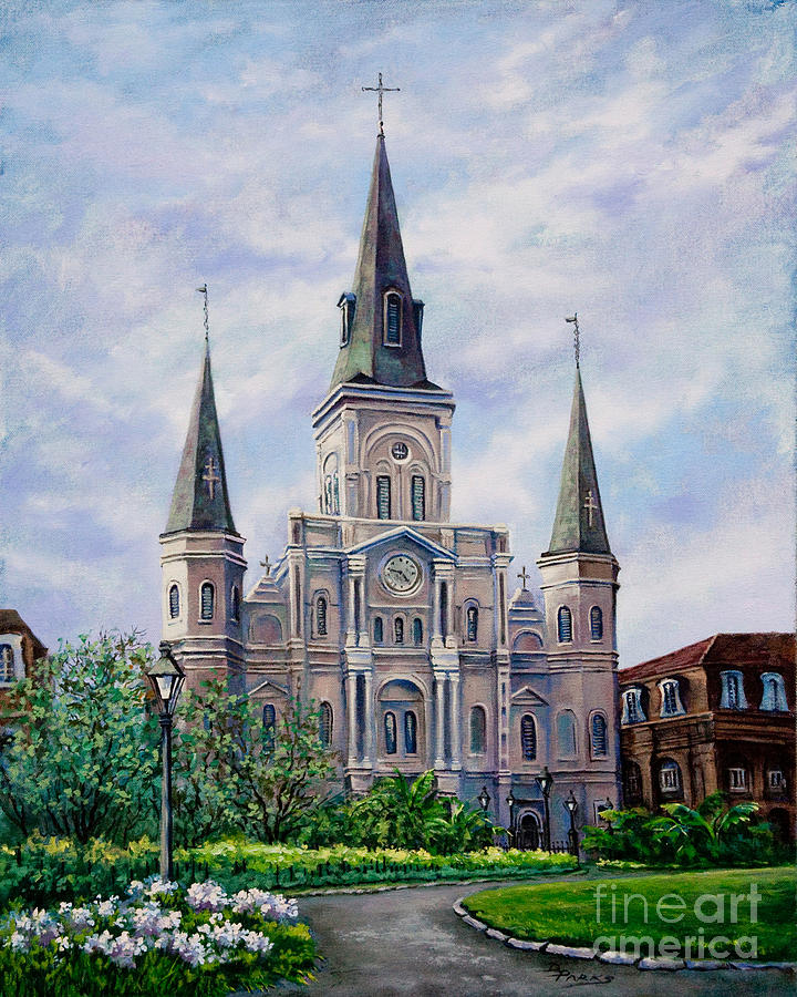 New Orleans Artist Painting - St. Louis Cathedral by Dianne Parks