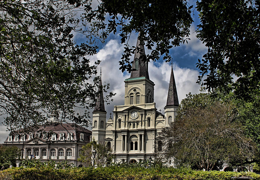 New Orleans Photograph - St. Louis Cathedral by Judy Vincent