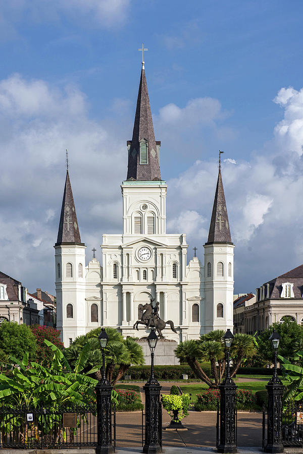 St. Louis Cathedral In Jackson Square Photograph by Amritendu Maji