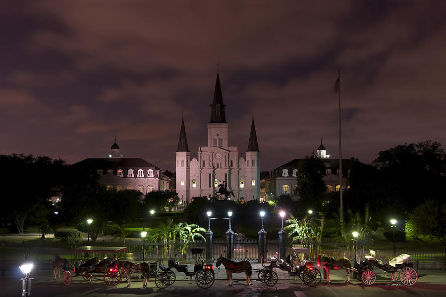 Architecture Photograph - St. Louis Cathedral In Jackson Square by Gej Jones