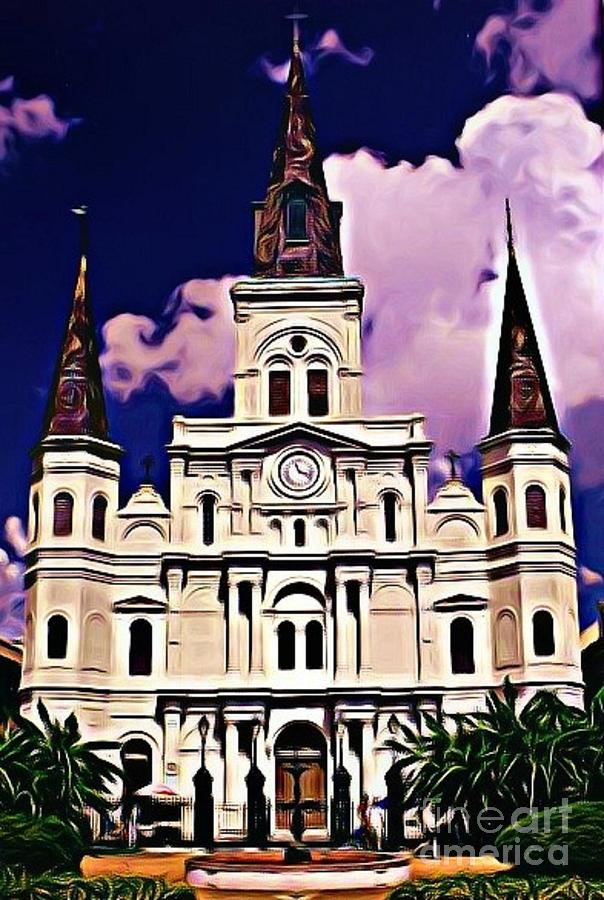 St Louis Cathedral In New Orleans Photograph - St Louis Cathedral In New Orleans by John Malone