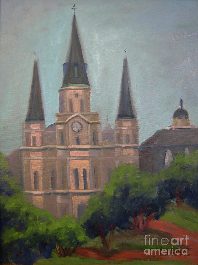 New Orleans Painting - St. Louis Cathedral by Lilibeth Andre