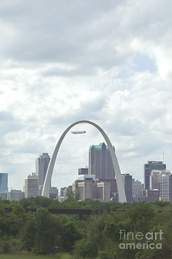 Arch Photograph - St. Louis Cityscape by Kay Pickens
